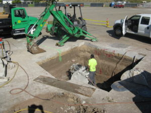 Greatpark irvine Removal for new manhole